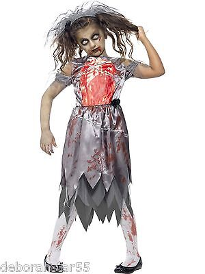Zombie Graveyard Corpse Bride Girls Halloween Fancy Dress Costume  - Corpse Bride Costume For Girls