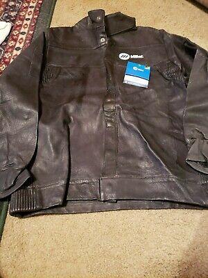 Miller Leather Welding Jacket Heavy Duty Large 231090