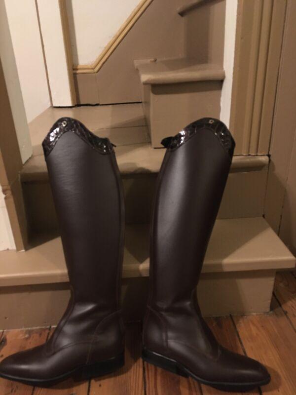 Derby Dressage Dress Riding Boots Brown