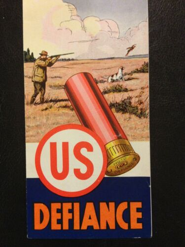 US Cartridge Co. DEFIANCE Shot Shell Box BROCHURE Trap Skeet Hunting DUCKS