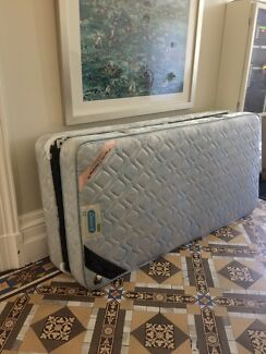 Free good condition single mattress and base -must collect today