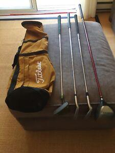 Golf Clubs & Light Bag
