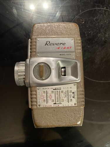 Vintage Revere Eight Model Fifty 8mm Movie Camera 1950s USA MidCentury Nice  - $30.00