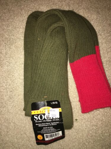 Boy Scout BSA Red Top Knee High Size 10 - 13 Official Original Tag Uniform Socks