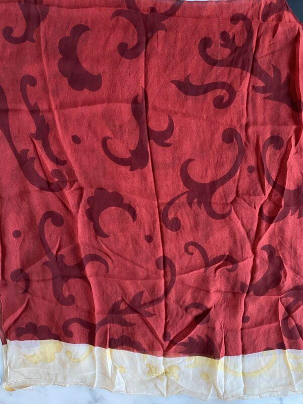 Bvlgari Large  Vintage 100% Silk Scarf designed by Davide Pizzigoni