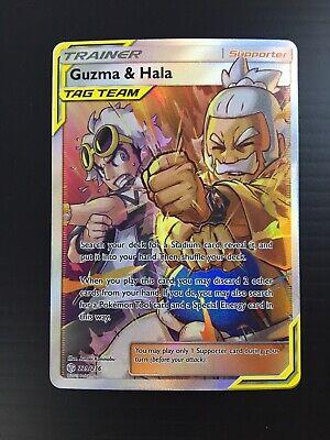 Guzma & Hala Full Art 229/236 Ultra Rare Trainer Pokemon TCG Cosmic Eclipse NM