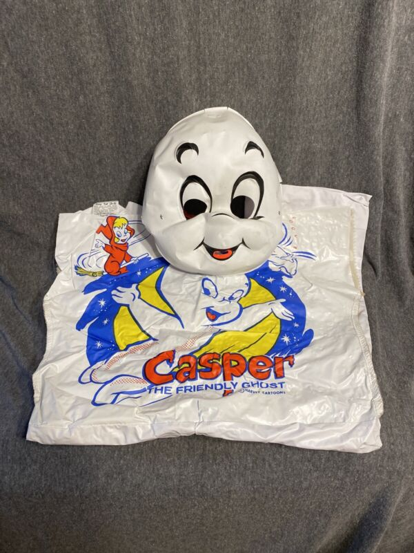 VINTAGE CASPER THE FRIENDLY GHOST HALLOWEEN COSTUME W/MASK COLLEGEVILLE TINY TOT