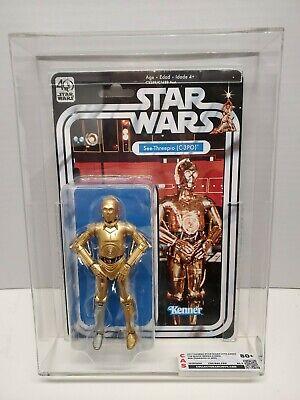 "Star Wars Black Series 40th Anniversary 6"" C-3PO graded COA CAS 80+ See-Threepio"