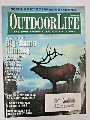 Outdoor Life Magazine October 1995 Big Game Hunting Issue Best Deer Stands Elk