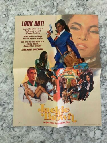"""Jackie Brown Movie Poster (Size 9x12"""" inches) Double Sided"""