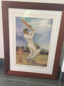 Allan Border signed Darcy Doyle print Tingalpa Brisbane South East Preview