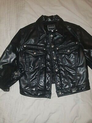 VERSACE JEANS COUTURE VINTAGE LADIES BIKER JACKET Size M VERY RARE #ref1ma