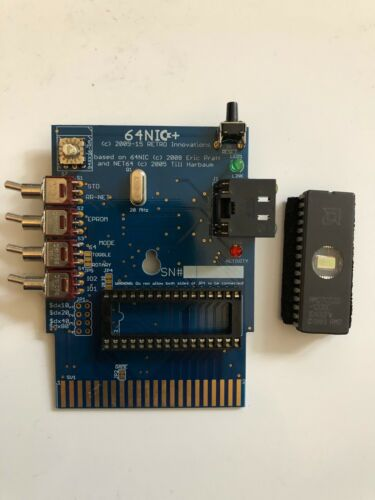 64NIC+ Cartridge w/ programmable 2MB UV EPROM Chip for Commodore 64