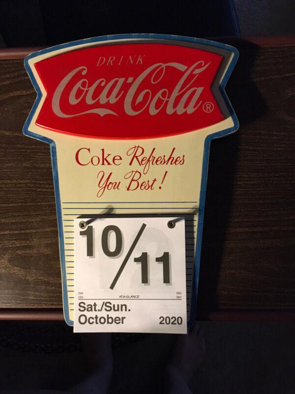 Vintage Coca Cola FISHTAIL Refillable Calendar