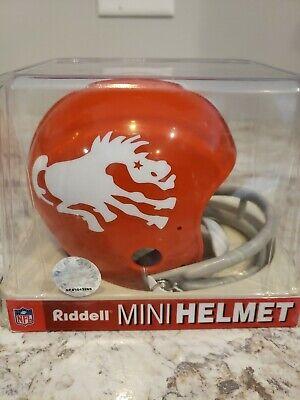 Riddell NFL Denver Broncos Throwback (62-65) 2-Bar Mini-Helmet