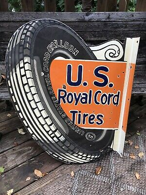 US Royal Tires Porcelain Sign