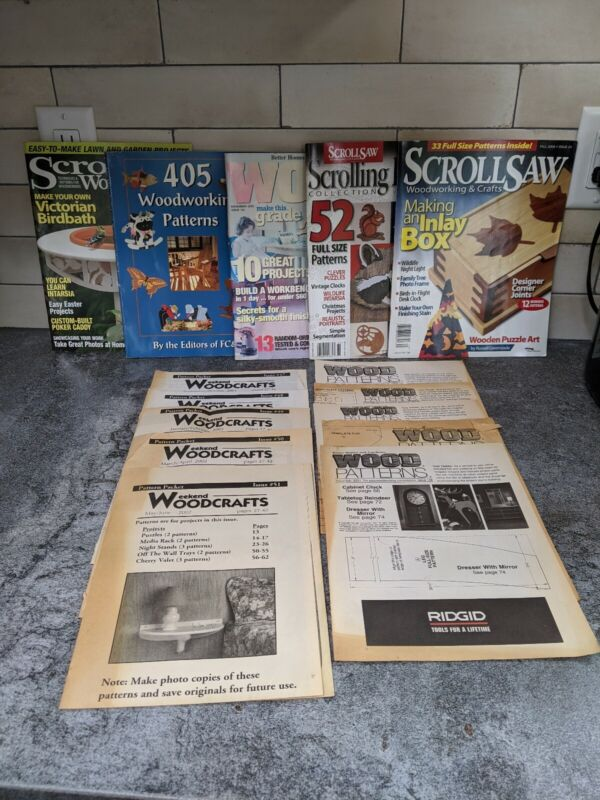 Wood Project Patterns Books LRG Lot Classic Wooden Toys Puzzles Furniture Decor