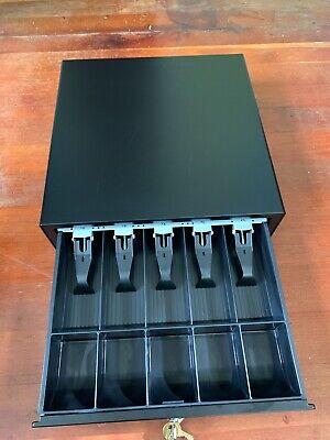 Apg Vasario Series Standard-duty Cash Drawer Multipro 24v Black Vb320-bl1616