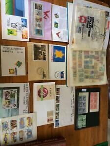 Stamp Albums X 2, Mixture of Stamps Plus Collector Envelopes
