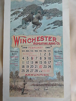 Winchester Firearms Advertising Poster,A.B. Frost 1900 Calendar, Hunting