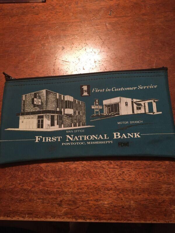 First National Bank Pontotoc Mississippi Bank Bag