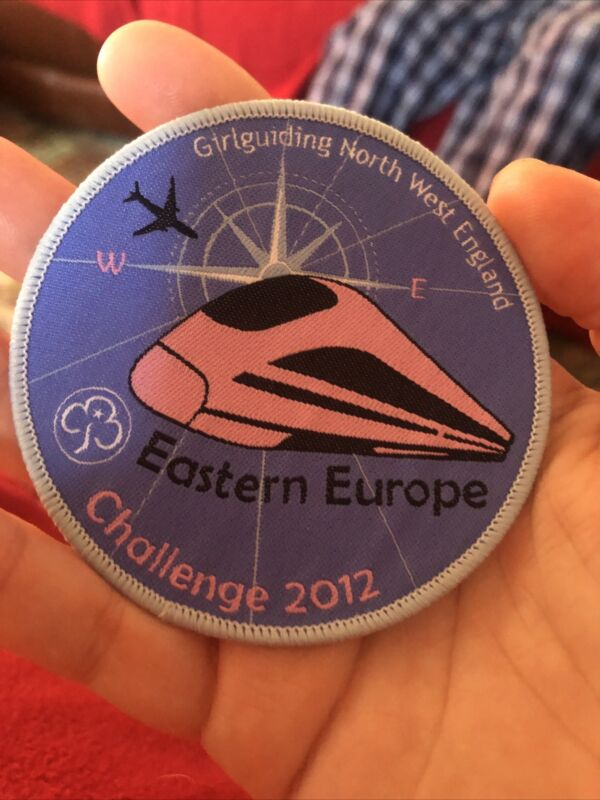 Girl Guiding North West England Eastern Europe Challenge 2012 Woven Badge