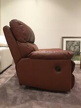 Genuine leather deluxe reclining chair Brighton Bayside Area Preview