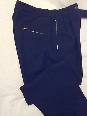 Boys Black Pleat Front Trousers by Premier Collection Size Inside Leg 25 inches