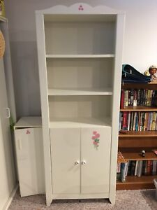 White Ikea bookcase  5 shelf with doors SOLD