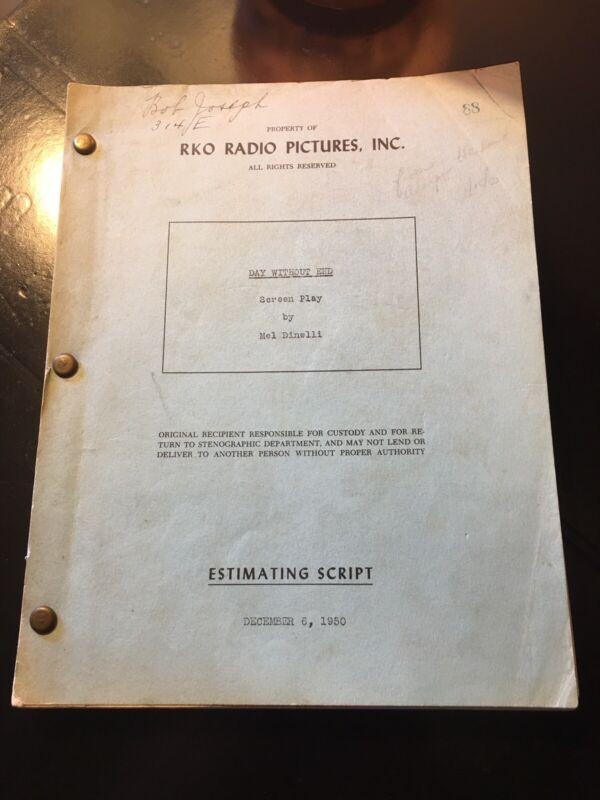 Beware My Lovely RKO Noir 1950 Original Script. Ida Lupino Suspense OTR Dinelli