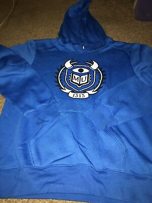 Disney World Pixar Monsters University Mens XL Blue Hoodie. Monsters Inc. Sulley