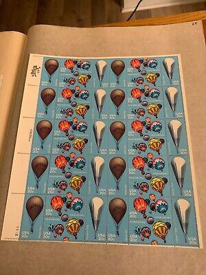 US Sheet MNH #2032-2035 20c Balloons  ,  2032