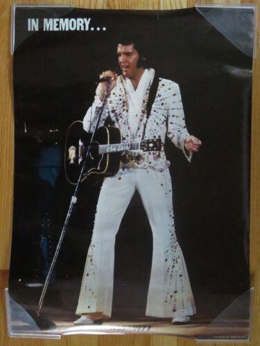 Vintage Original 1977 ELVIS PRESLEY In Memory ... 1935 -1977 Poster