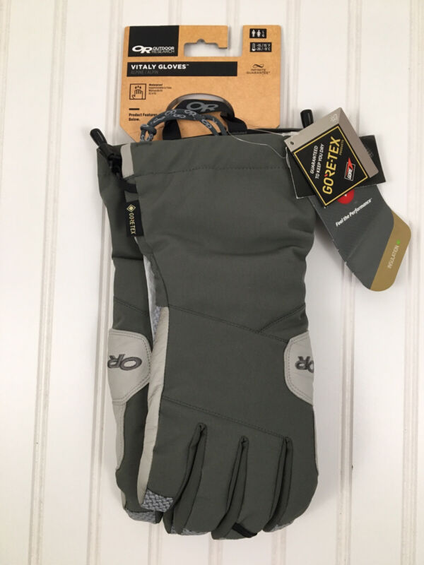 Outdoor Research Vitaly GORE-TEX Primaloft Waterproof Gloves SZ Large NEW!