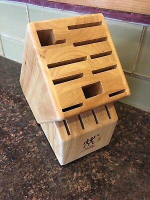ZWILLING J A Henckels 14 Slot Wooden Solid Wood Knife Block Stand Storage Caddy Henckels Knife Storage Block