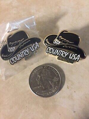 2007 Country Jam Oshkosh Wi Black Hat Pin
