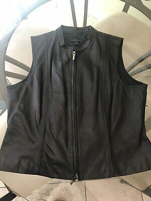 Ladies Biker Style Black Leather Best Size XL Studio