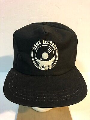 Vintage Dumb Records Hat Snapback Trucker USA Cap Union Black