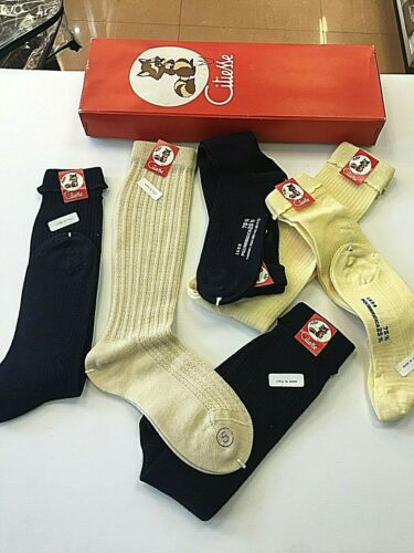 LOT 6  Boys Girls MIXED  VINTAGE CLYIESSE DRESS SOCKS  Made In Italy  NEW Unique