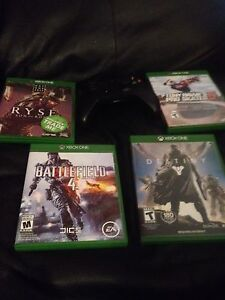 1 x box one controller and 4 x box one games