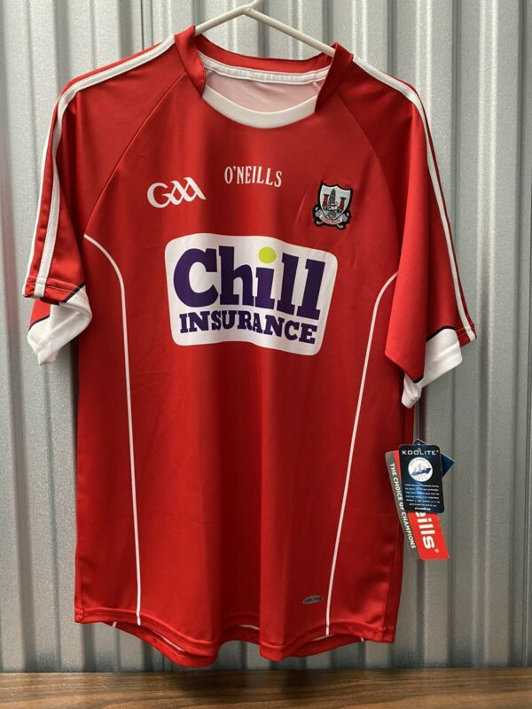 NWT O'Neill's Cork GAA Home Jersey Chill Insurance M