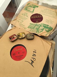 vintage 78rpm gramophone records