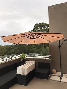 Outdoor Umbrella with floor pavers Lane Cove North Lane Cove Area Preview