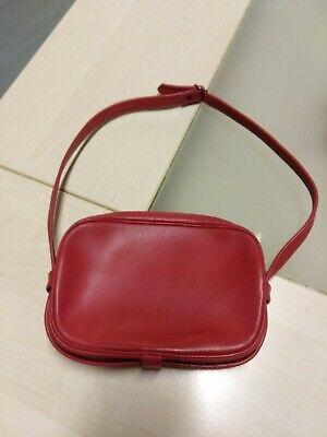 Mini sac vintage en similicuir rouge