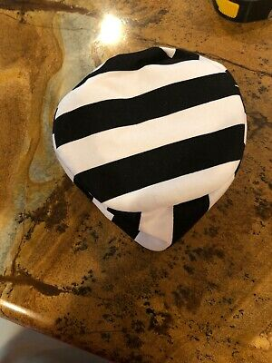 """Black And White Striped Childs Prison Hat Costume 6"""" Wide](Black And White Striped Prisoner Costume)"""