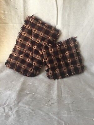 Set Of 2 Homemade Rag Quilted Hot Pads Now Made Extra Thick W Double Insul Brite