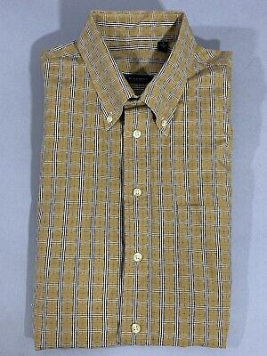 Burberry men's  shirt Large Classic Plaid Long Sleeve Button Up