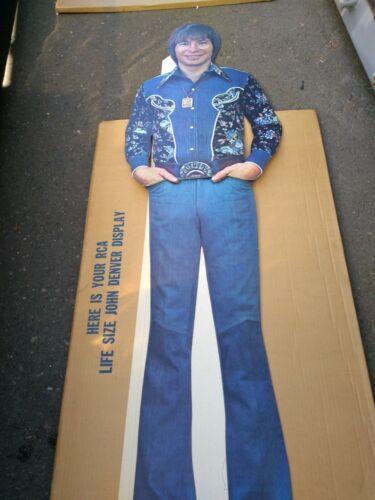 """JOHN DENVER 1975 WINDSONG RCA PROMO 64 """" STANDEE/BOX NMINT RARE CLEAN VTG HTF!"""