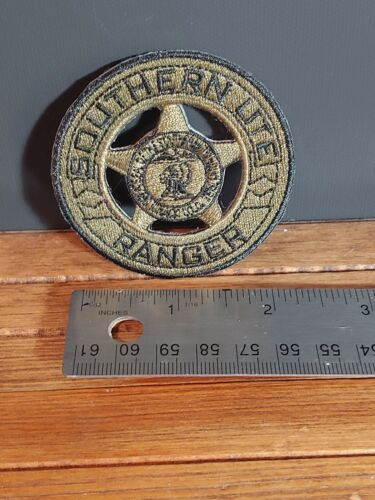 Southern Ute Tribal Ranger Embroidered Badge Patch in Subdued Green