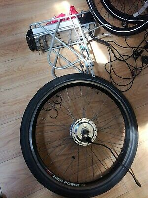 Electric bike conversion kit with battery and throttle